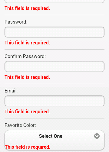 Example of form validation in a jQuery Mobile Application ...
