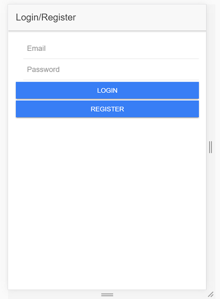 An example of the Ionic Auth service with Ionic 2