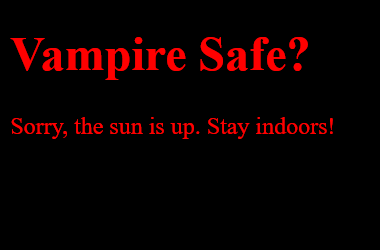 Vampire Safe