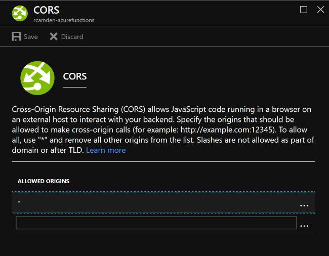 CORS Panel