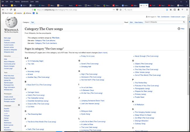 Screen shot of Wikipedia page