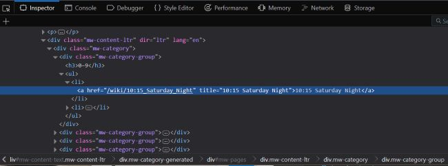 Screen shot of devtools focused on the link tag