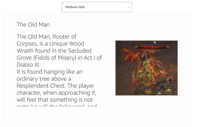 An example showing the text and image from the skill
