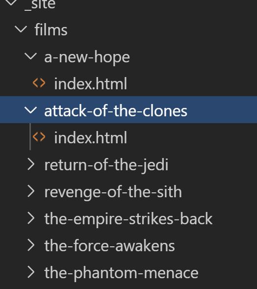 Folder output from dynamic films