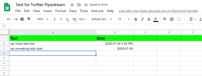 Building a Twitter Scheduling System with Pipedream and Google Sheets