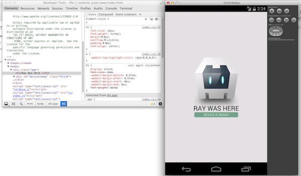 Apache Cordova 3 3 and Remote Debugging for Android