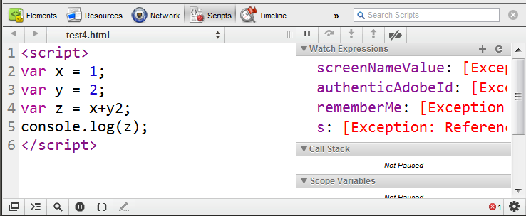 How I debug JavaScript issues