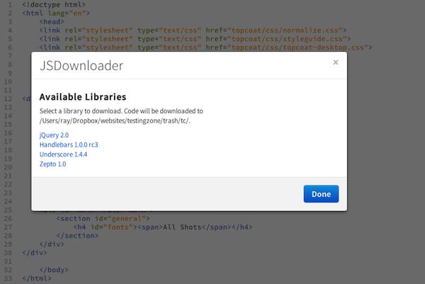 New Brackets extension - JSDownloader