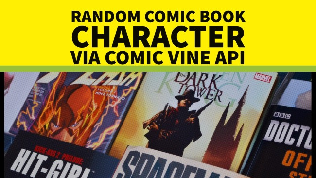 Serverless Demo - Random Comic Book Character via Comic Vine API