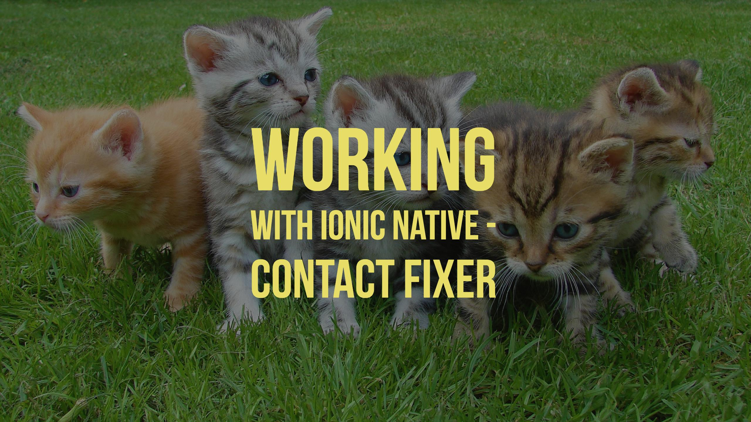 Working with Ionic Native - Contact Fixer