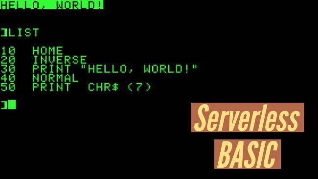 Serverless BASIC