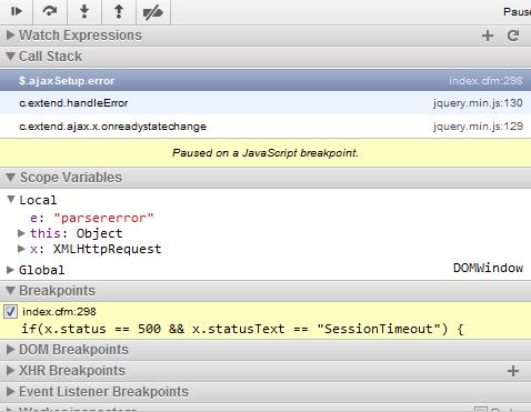 Using the Chrome JavaScript Debugger
