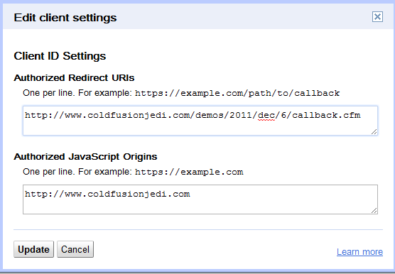 Working with Google and OAuth2