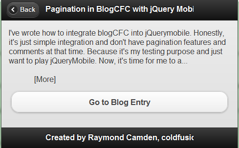 Mobile version of ColdFusion Bloggers updated