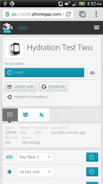 PhoneGap Build adds Hydration