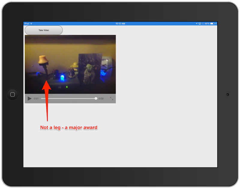 Cordova Sample: Capture and Display Video